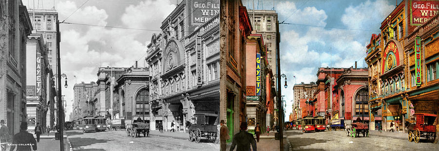 City - Baltimore MD - Adult entertainment 1910 - Side by Side by Mike Savad