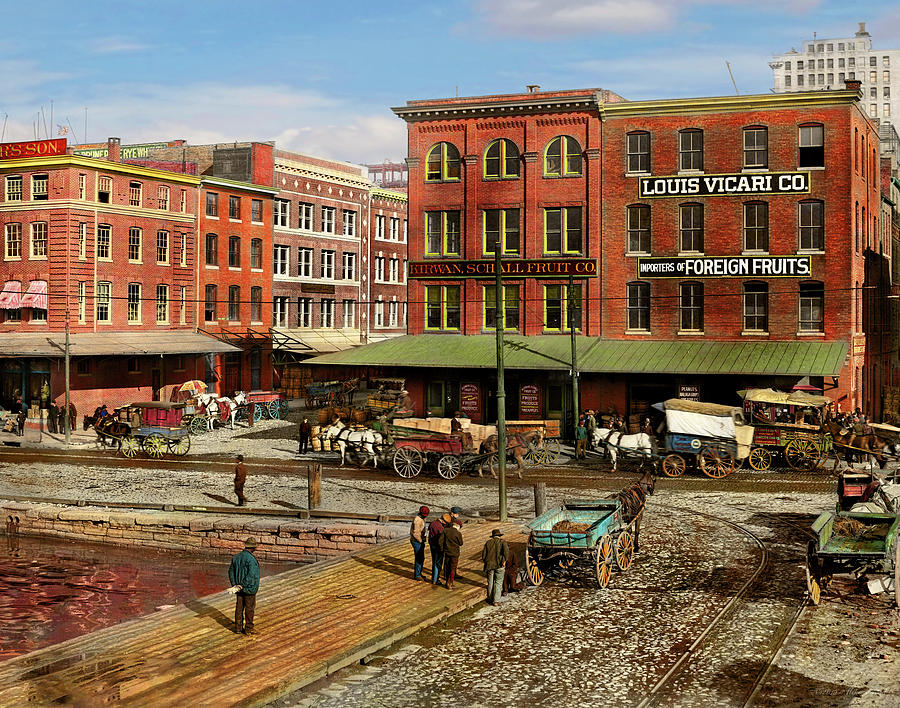 City - Baltimore MD - Pratt St - Fruit Importers 1906 Right Half by Mike Savad
