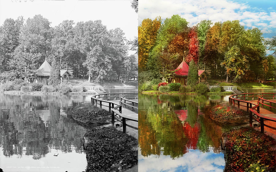 City - Baltimore MD - The Island house in Druid Hill Park 1906 - Side by Side by Mike Savad
