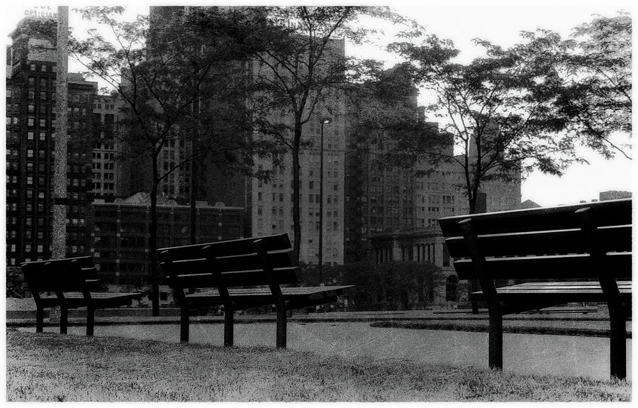 City Benches at Dusk by Scott Kingery