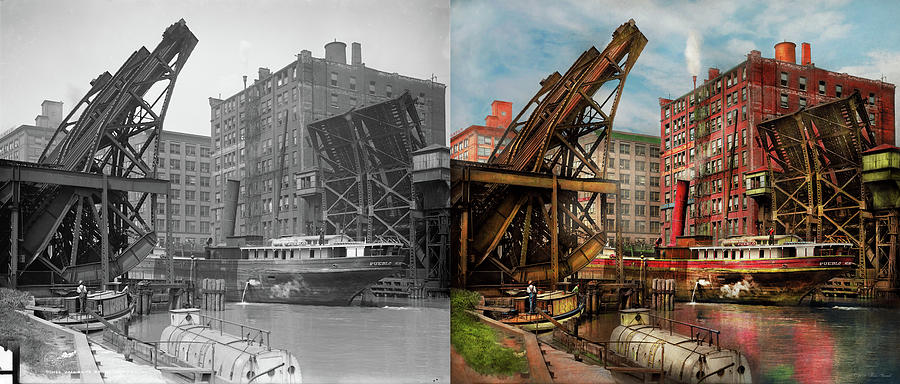 City - Chicago IL - Jacked up 1907 - Side by Side by Mike Savad