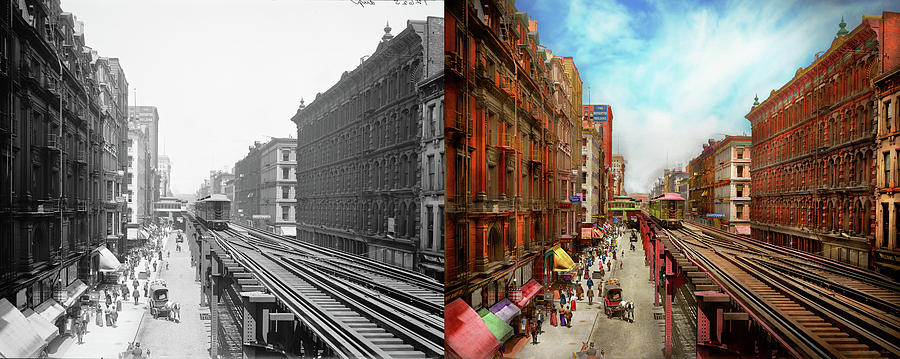 City - Chicago IL - South Wabash Ave 1900 - Side by Side by Mike Savad