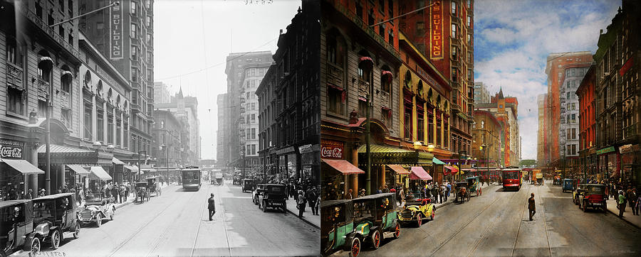 City - Chicago IL - The Brevoort Hotel 1910 - Side by Side by Mike Savad