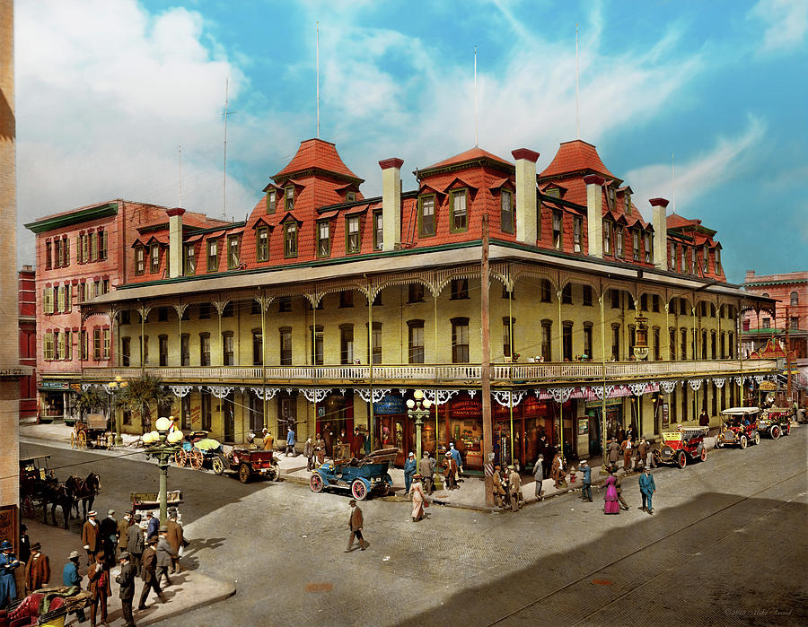 City - Jacksonville FL - The New Duval Hotel 1910 by Mike Savad