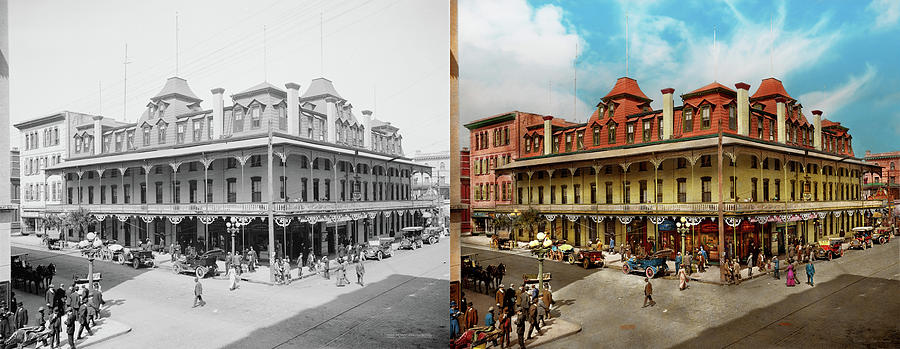 City - Jacksonville FL - The New Duval Hotel 1910 - Side by Side by Mike Savad