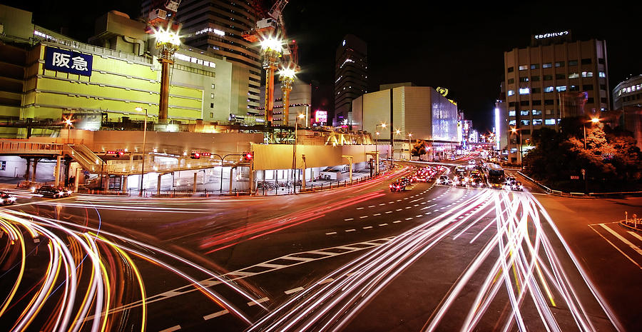 City Light Trails Photograph by Christopher Chan