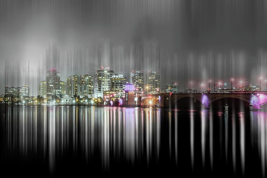 City lights of West Palm Beach by Wolfgang Stocker