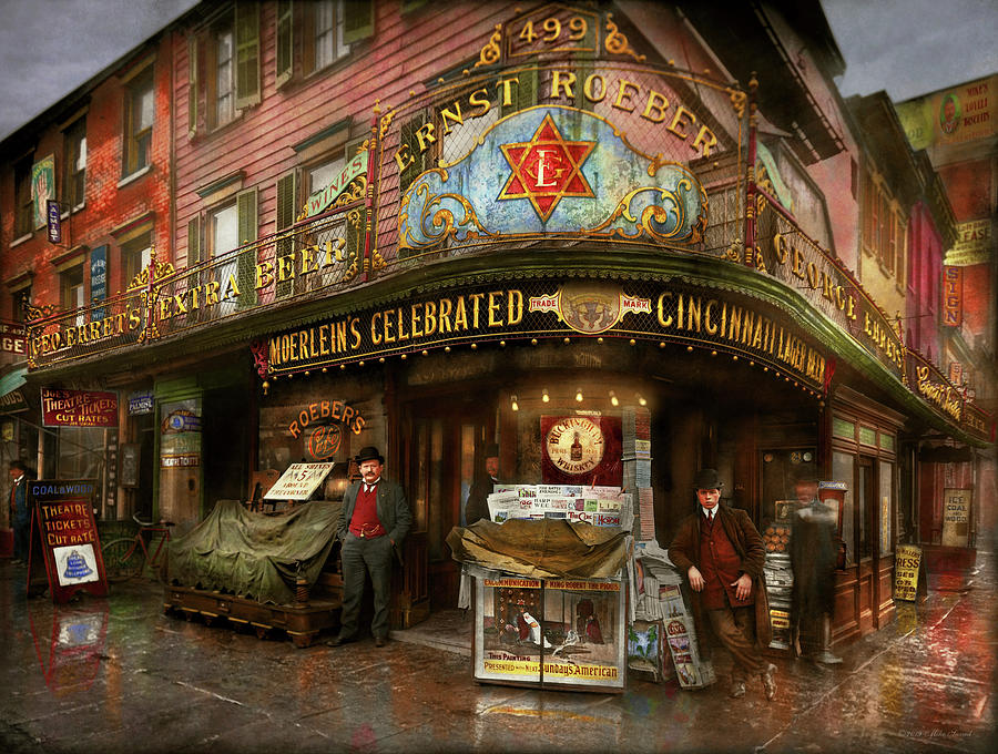 City - NY - Ernest Roeber's Cafe 1908 by Mike Savad