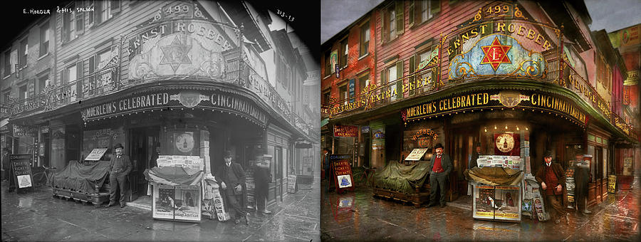 City - NY - Ernest Roeber's Cafe 1908 - Side by Side by Mike Savad