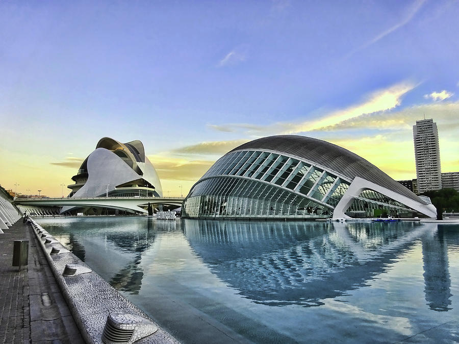 Architecture Photograph - City Of Arts And Sciences  # 8 - Valencia by Allen Beatty