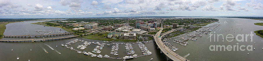 City of Charleston South Carolina Panorama by Dustin K Ryan