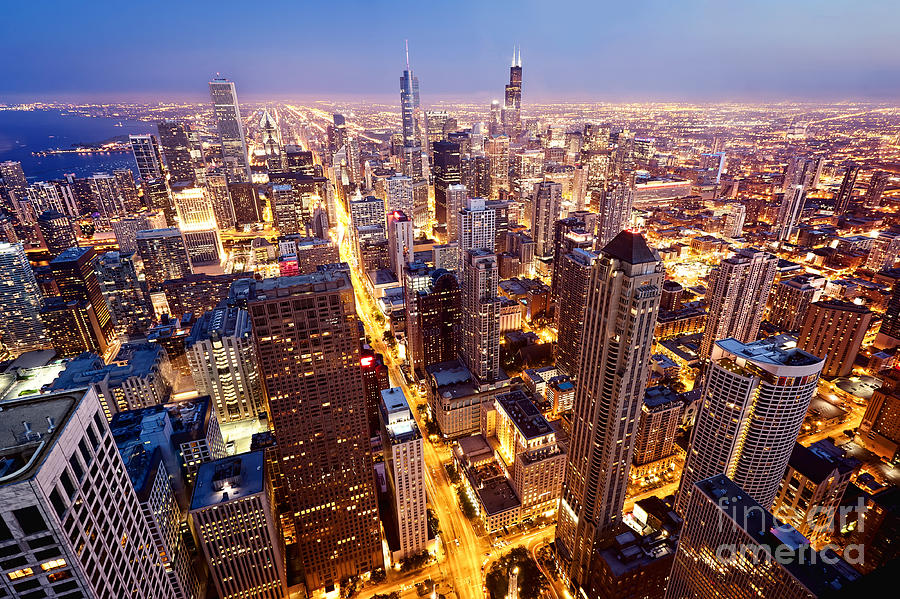 Usa Photograph - City Of Chicago. Aerial View  Of by Andrey Bayda