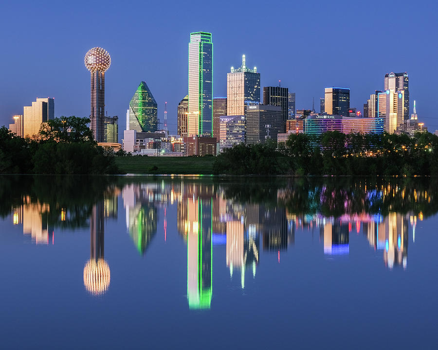 City of Dallas, Texas Reflection by Robert Bellomy