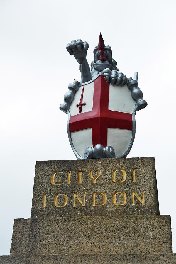 City of London Dragon Boundary Mark at London Bridge by Ian Middleton