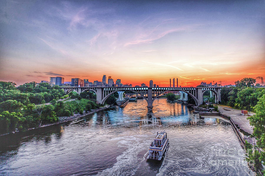 Minnesota Photograph - City on the Mississippi by Habashy Photography