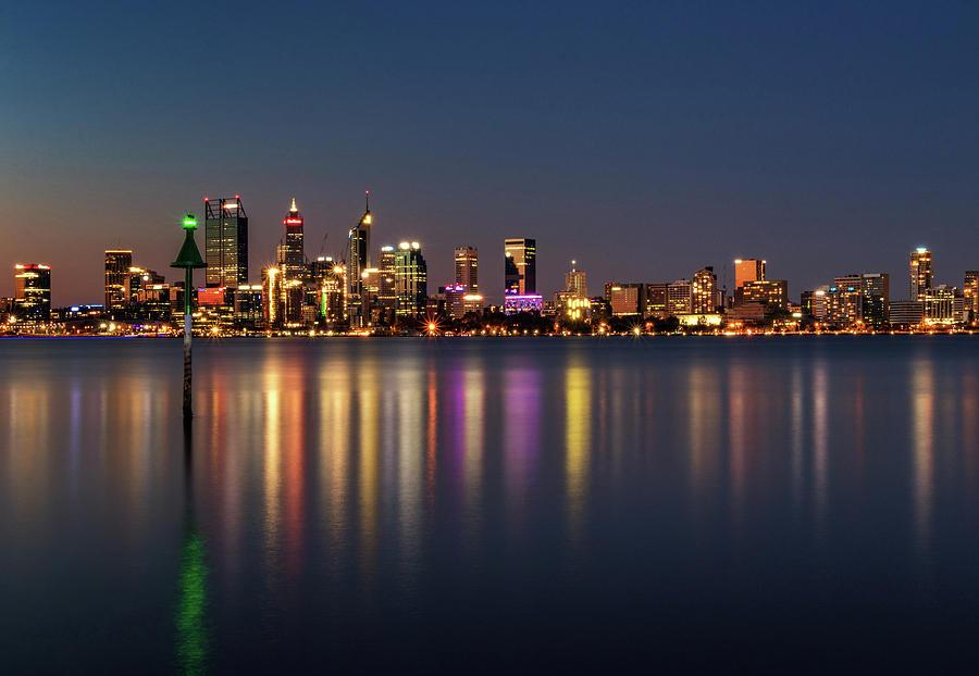 City Photograph - City Reflections  by Sue Errington-Wood