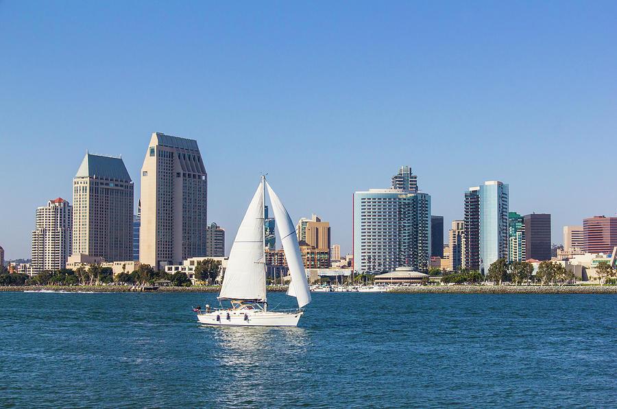 City Skyline Of San Diego, California P Photograph by Ron thomas
