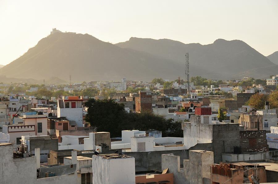 City Skyline Of Udaipur,rajasthan,india Photograph by Alan lagadu