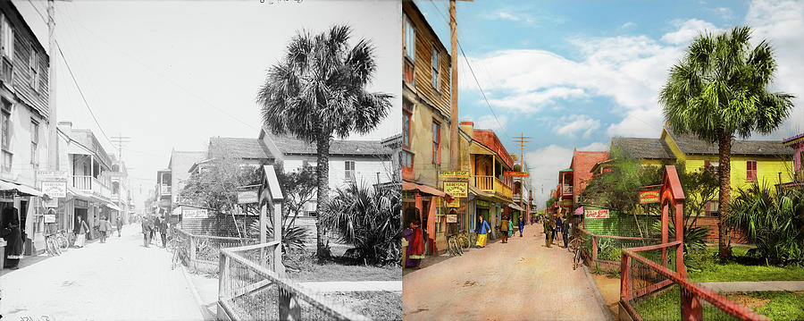 City - St. Augustine Florida - Cozy Inn 1908 - Side by Side by Mike Savad