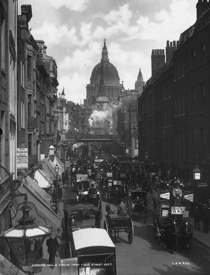 City Traffic Photograph by London Stereoscopic Company