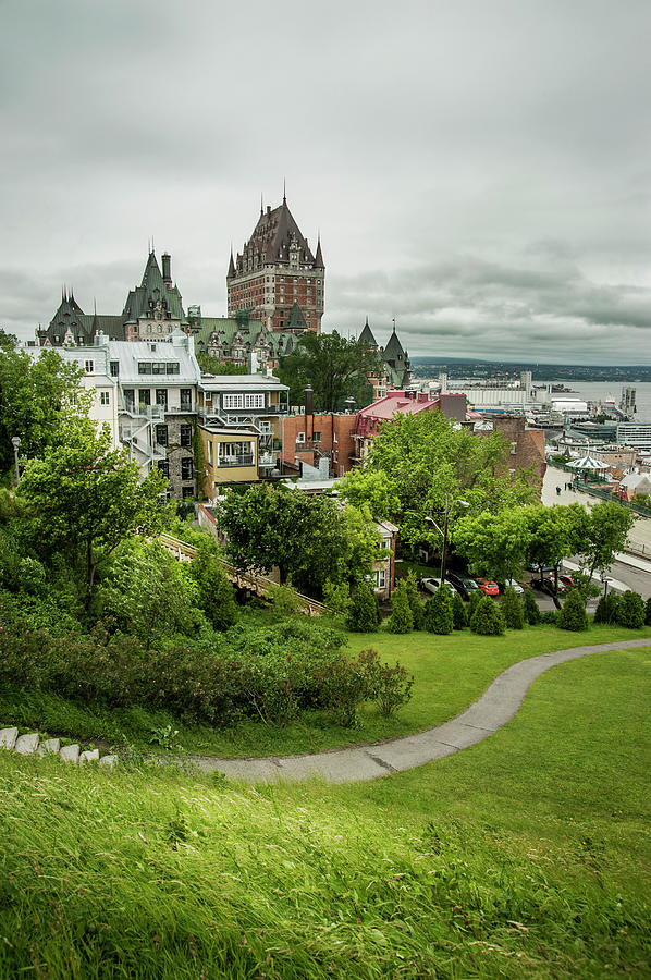 City View Of Old Quebec City, Quebec Photograph by Marlene Ford