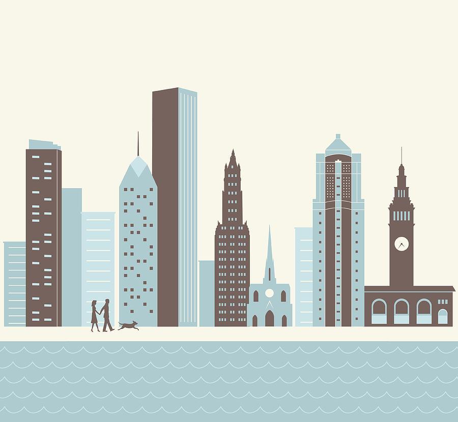 City Walk Digital Art by Hey Darlin