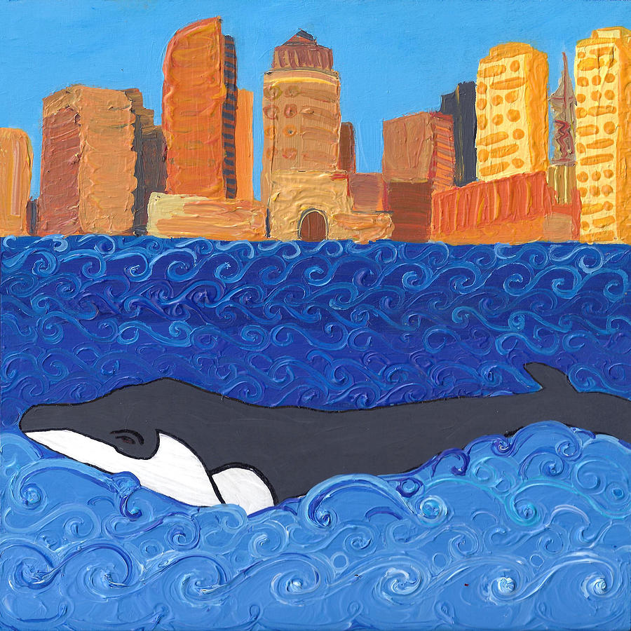 City Whale by Caroline Sainis