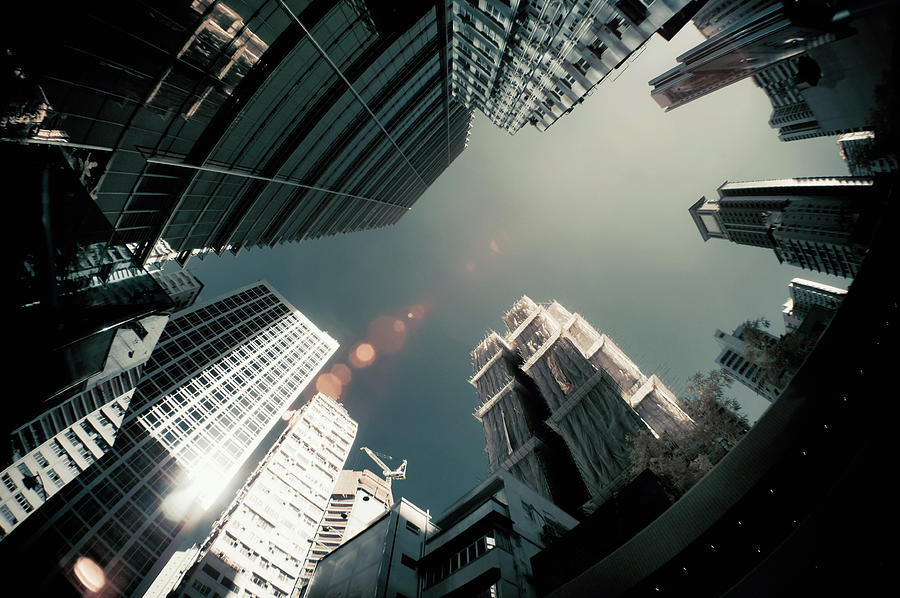 Cityscape And Sunlight Flare In Photograph by D3sign