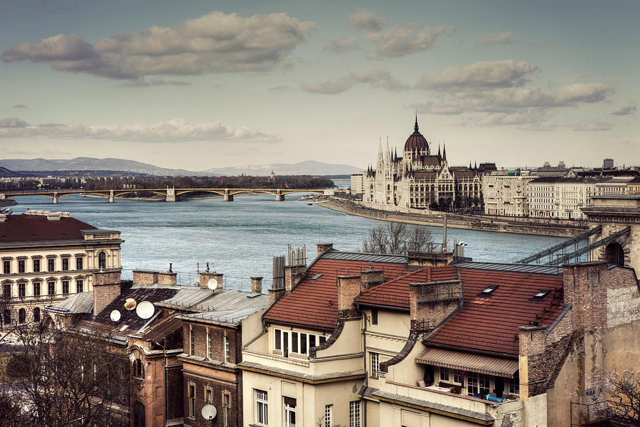 Cityscape Of Budapest Photograph by By Matthew Heptinstall