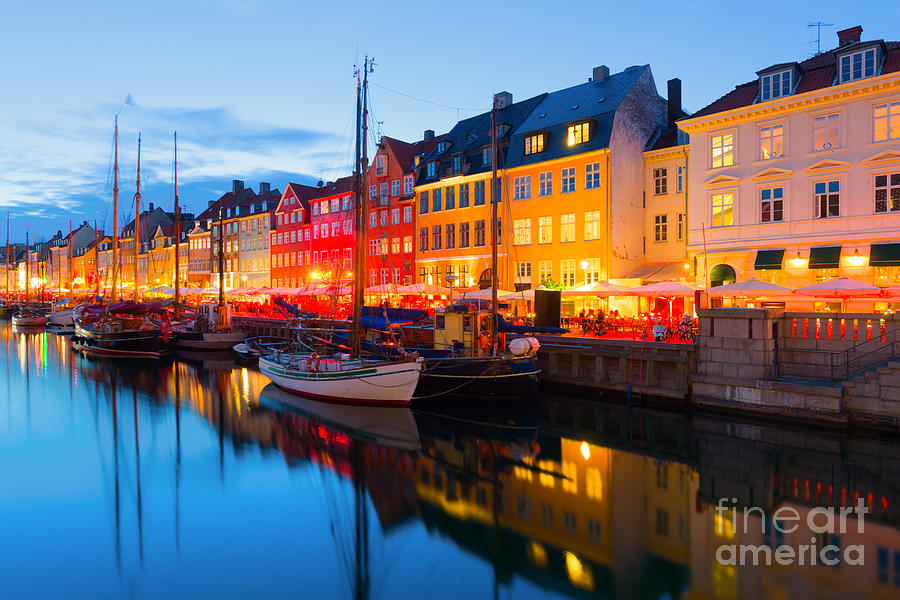 Sailboat Photograph - Cityscape Of Copenhagen At A Summer by Sergiyn