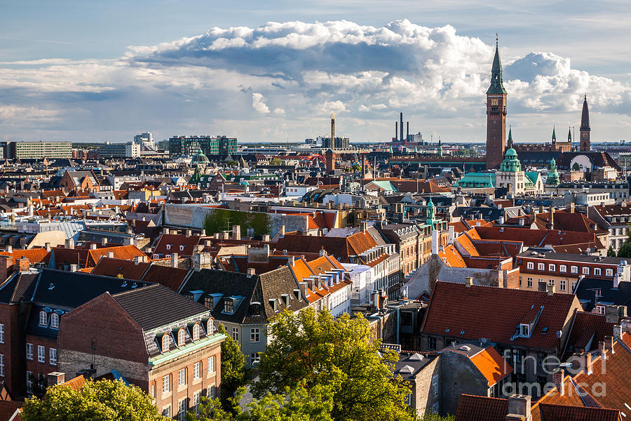 Country Photograph - Cityscape Of Copenhagen From The Round by Bucchi Francesco