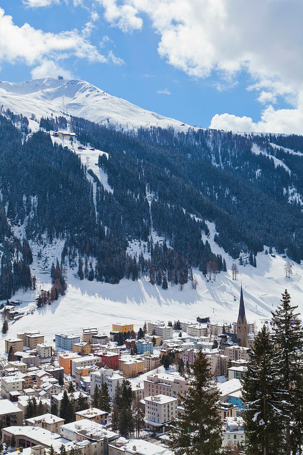 Cityscape Of Davos, Grisons, Switzerland Photograph by Werner Dieterich