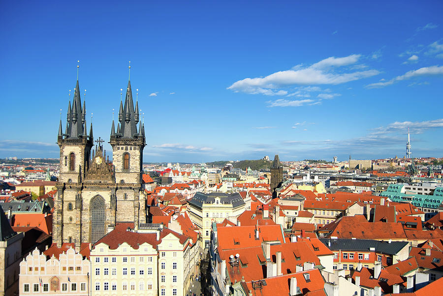 Cityscape Of Old Town Square In Prague Photograph by Aleksandargeorgiev