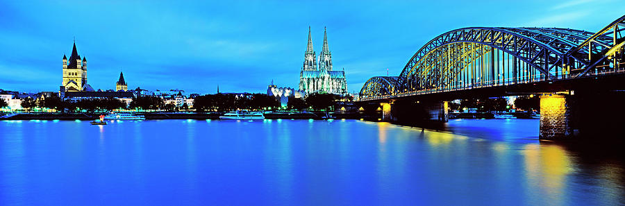 Cityscape On Rhine River Photograph by Murat Taner
