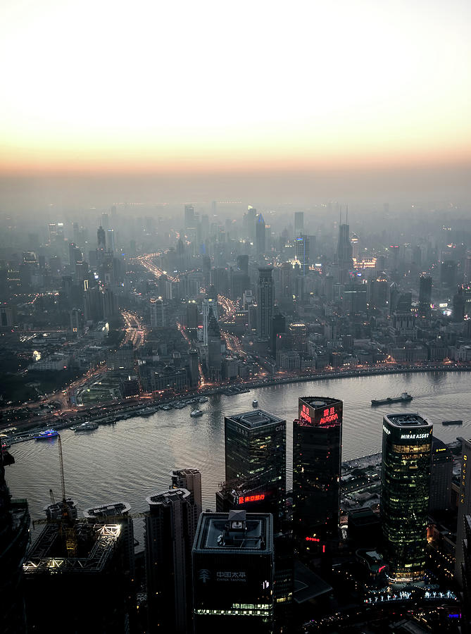 Cityscape Puxi Shanghai Photograph by Andy Brandl