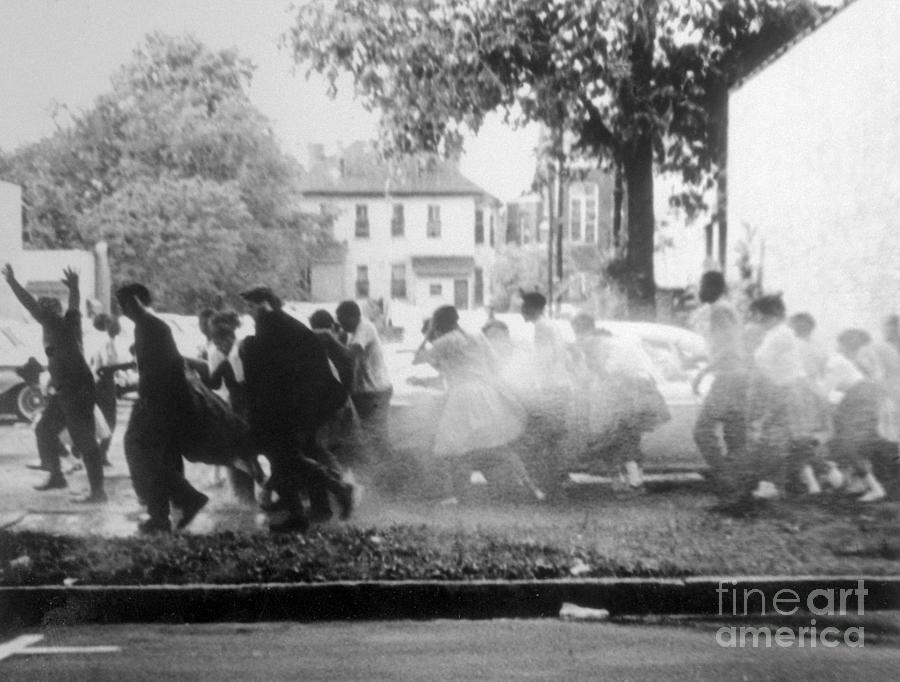 Civil Rights Demonstrators Getting Photograph by Bettmann