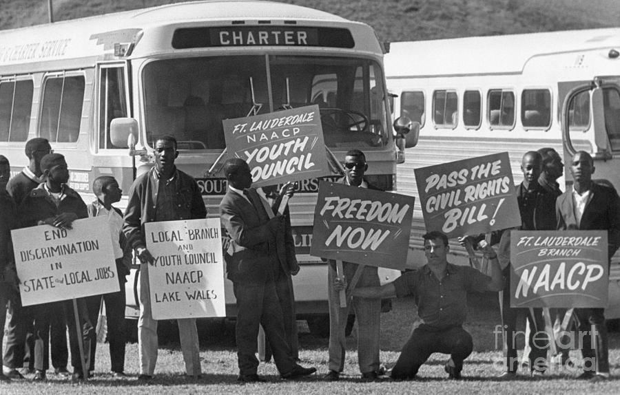 Civil Rights Marchers Gather Photograph by Bettmann