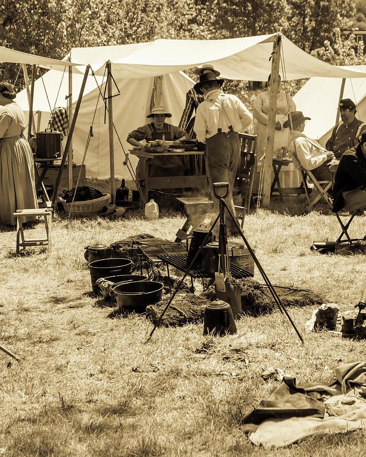 Civil War Encampment by Stewart Helberg