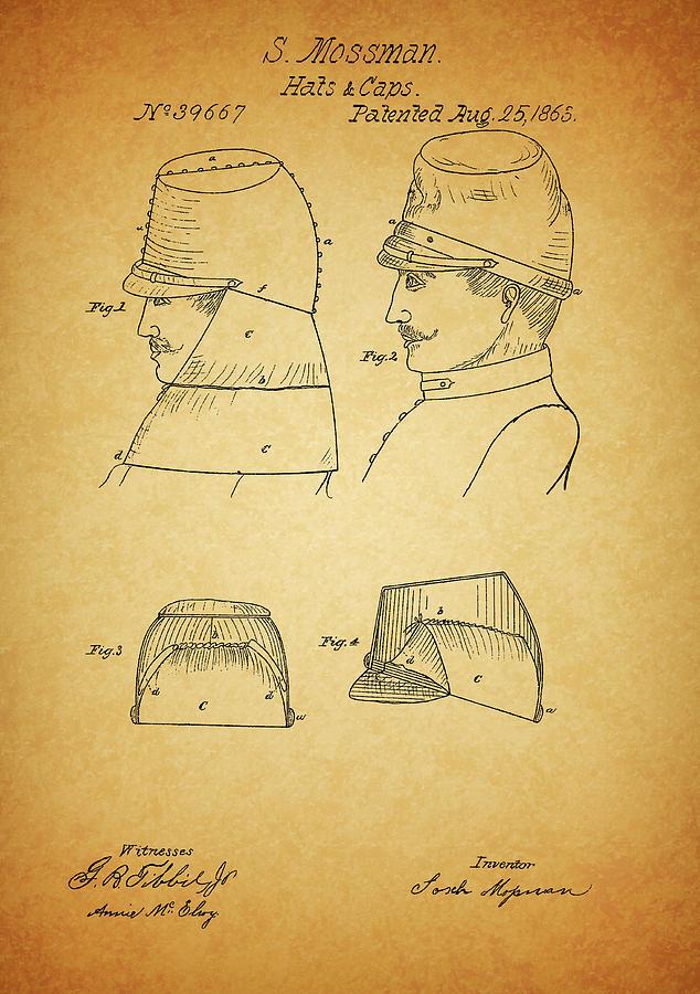 Civil War Era Drawing - Civil War Military Hat by Dan Sproul