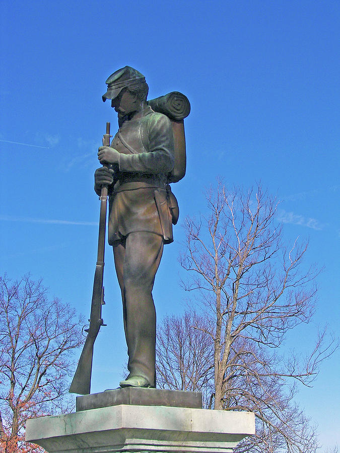 Sculpture Photograph - Civil War Sentry by Toni Leland