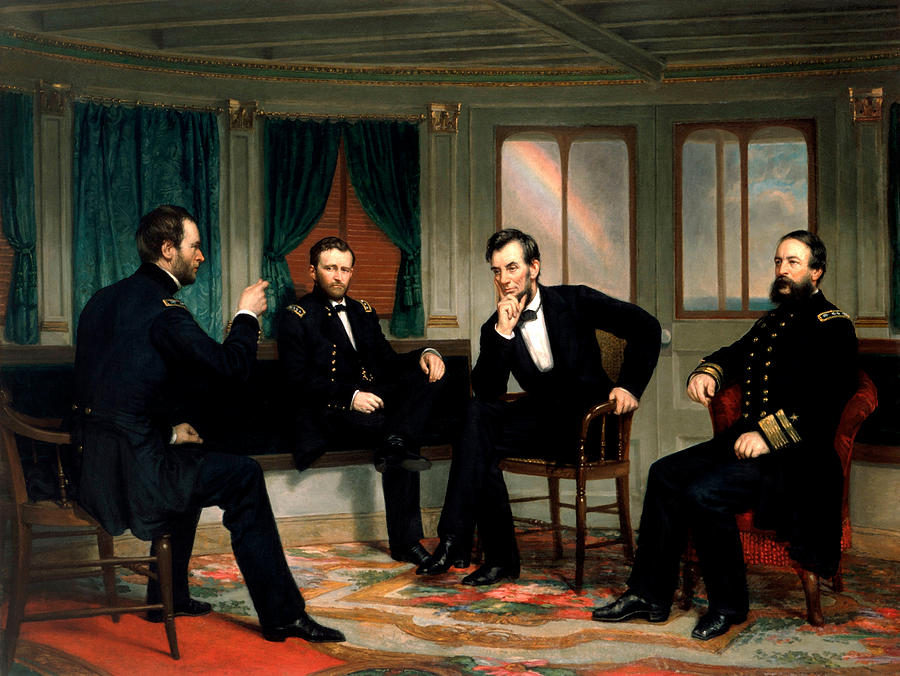 Civil War Union Leaders - The Peacemakers - George P.a. Healy Painting