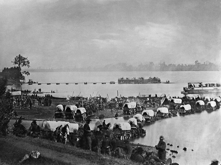 1863 Photograph - Civil War: Wagon Train by Andrew Joseph Russell