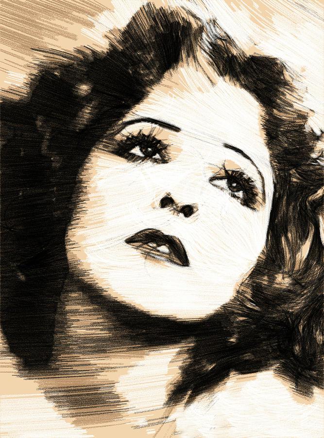 Clara Drawing - Clara Bow It Girl 2 by Steve K