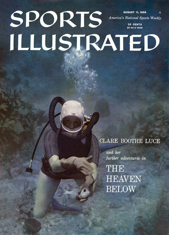 Clare Boothe Luce, Scuba Diving Sports Illustrated Cover Photograph by Sports Illustrated