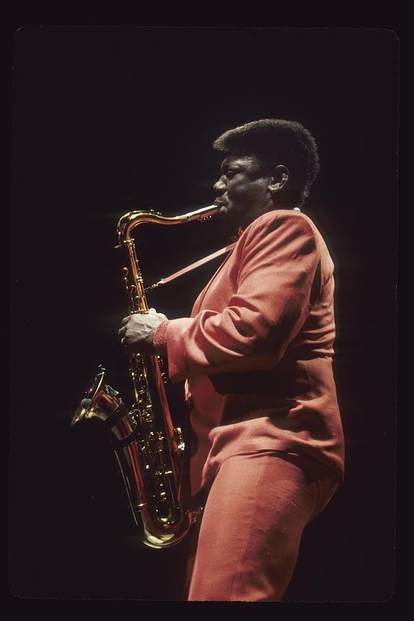 Clarence Clemons Performs Live With The Photograph by Richard Mccaffrey
