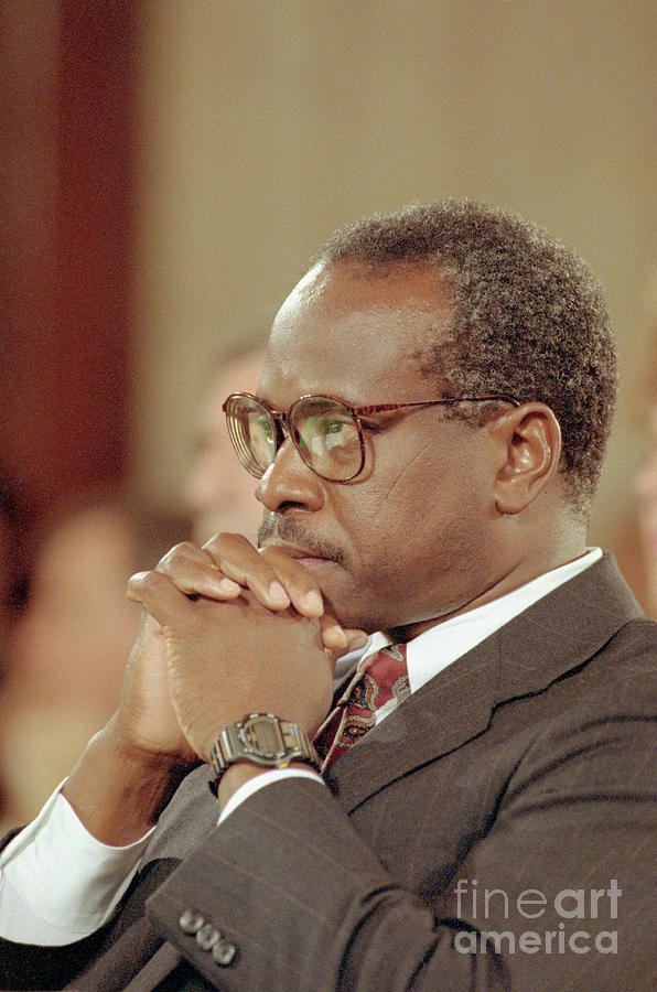 Clarence Thomas Attending Hearing Photograph by Bettmann
