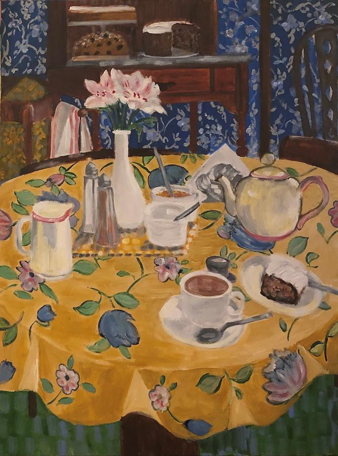 Still Life Painting - Clarindas Tea Shoppe by Fran Steinmark