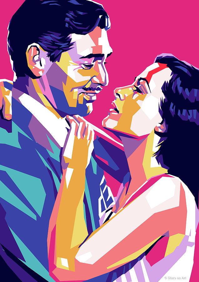 Clark Gable and Hedy Lamarr by Stars on Art