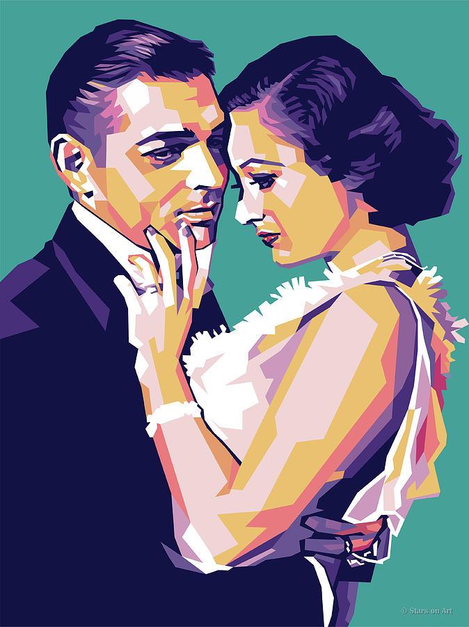 Clark Gable And Joan Crawford Digital Art