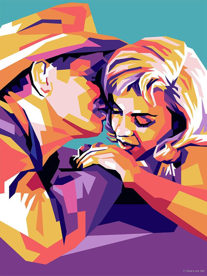 Clark Gable And Marilyn Monroe Digital Art